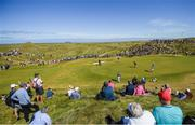 6 July 2018; Rory McIlroy of Northern Ireland putts on the 1st green during Day Two of the Dubai Duty Free Irish Open Golf Championship at Ballyliffin Golf Club in Ballyliffin, Co. Donegal. Photo by Ramsey Cardy/Sportsfile