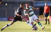 2 July 2018; Brandon Miele of Shamrock Rovers in action against Marco Tagbajumi of Dundalk during the Leinster Senior Cup Quarter-Final match between Shamrock Rovers and Dundalk at Tallaght Stadium in Dublin. Photo by Tom Beary/Sportsfile