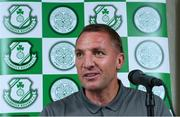 6 July 2018; Glasgow Celtic manager Brendan Rodgers during a Glasgow Celtic Press Conference at the Castleknock Hotel in Dublin. Photo by Matt Browne/Sportsfile