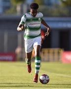 2 July 2018; Eric Abulu of Shamrock Rovers during the Leinster Senior Cup Quarter-Final match between Shamrock Rovers and Dundalk at Tallaght Stadium in Dublin. Photo by Tom Beary/Sportsfile