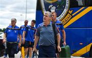 7 July 2018; Roscommon manager Kevin McStay and his team arrive prior to the GAA Football All-Ireland Senior Championship Round 4 match between Roscommon and Armagh at O'Moore Park in Portlaoise, Co. Laois. Photo by Brendan Moran/Sportsfile