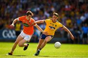 7 July 2018; Andrew Murnin of Armagh in action against Niall McInerney of Roscommon during the GAA Football All-Ireland Senior Championship Round 4 match between Roscommon and Armagh at O'Moore Park in Portlaoise, Co. Laois. Photo by Eóin Noonan/Sportsfile
