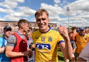 7 July 2018; Enda Smith of Roscommon celebrates following the GAA Football All-Ireland Senior Championship Round 4 match between Roscommon and Armagh at O'Moore Park in Portlaoise, Co. Laois. Photo by Eóin Noonan/Sportsfile