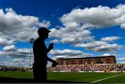 7 July 2018; Armagh manager Kieran McGeeney watches the final moments of the GAA Football All-Ireland Senior Championship Round 4 match between Roscommon and Armagh at O'Moore Park in Portlaoise, Co. Laois. Photo by Brendan Moran/Sportsfile
