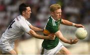 7 July 2018; Evan Cronin of Kerry in action against Tom Dore of Kildare during the GAA Football All-Ireland Junior Championship semi-final between Kildare and Kerry at Páirc Tailteann in Navan, Co. Meath. Photo by Piaras Ó Mídheach/Sportsfile