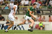 7 July 2018; Kieran Murphy of Kerry in action against Mark Sherry of Kildare during the GAA Football All-Ireland Junior Championship semi-final between Kildare and Kerry at Páirc Tailteann in Navan, Co. Meath. Photo by Piaras Ó Mídheach/Sportsfile