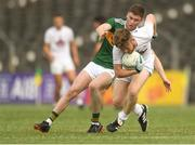 7 July 2018; Nathan Sherry of Kildare in action against Ronan Buckley of Kerry during the GAA Football All-Ireland Junior Championship semi-final between Kildare and Kerry at Páirc Tailteann in Navan, Co. Meath. Photo by Piaras Ó Mídheach/Sportsfile