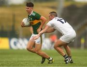 7 July 2018; Lee Donoghue of Kerry in action against Mark Grace of Kildare during the GAA Football All-Ireland Junior Championship semi-final between Kildare and Kerry at Páirc Tailteann in Navan, Co. Meath. Photo by Piaras Ó Mídheach/Sportsfile
