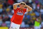 7 July 2018; Michael Hurley of Cork reacts after missing a goal chance during the GAA Football All-Ireland Senior Championship Round 4 between Cork and Tyrone at O'Moore Park in Portlaoise, Co. Laois. Photo by Brendan Moran/Sportsfile