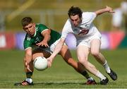 7 July 2018; Cillian Fitzgerald of Kerry in action against Graham Waters of Kildare during the GAA Football All-Ireland Junior Championship semi-final between Kildare and Kerry at Páirc Tailteann in Navan, Co. Meath. Photo by Piaras Ó Mídheach/Sportsfile