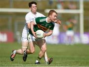 7 July 2018; Thomas Hickey of Kerry in action against Tom Dore of Kildare during the GAA Football All-Ireland Junior Championship semi-final between Kildare and Kerry at Páirc Tailteann in Navan, Co. Meath. Photo by Piaras Ó Mídheach/Sportsfile