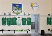 7 July 2018; The Limerick dressing room before the GAA Hurling All-Ireland Senior Championship Preliminary Quarter-Final match between Carlow and Limerick at Netwatch Cullen Park in Carlow. Photo by Matt Browne/Sportsfile