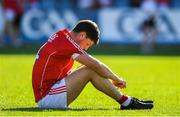 7 July 2018; A dejected Kevin Crowley of Cork after the GAA Football All-Ireland Senior Championship Round 4 between Cork and Tyrone at O'Moore Park in Portlaoise, Co. Laois. Photo by Brendan Moran/Sportsfile