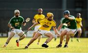 7 July 2018; Damien Reck of Wexford in action against Ciaran Doyle of Westmeath during the GAA Hurling All-Ireland Senior Championship Preliminary Quarter-Final match between Westmeath and Wexford at TEG Cusack Park in Mullingar, Co. Westmeath. Photo by Diarmuid Greene/Sportsfile