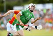 7 July 2018; Aaron Gillane of Limerick in action against Paul Doyle of Carlow during the GAA Hurling All-Ireland Senior Championship Preliminary Quarter-Final match between Carlow and Limerick at Netwatch Cullen Park in Carlow. Photo by Matt Browne/Sportsfile