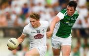7 July 2018; Daniel Flynn of Kildare in action against Tom Clarke of Fermanagh during the GAA Football All-Ireland Senior Championship Round 4 match between Fermanagh and Kildare at Páirc Tailteann in Navan, Co. Meath. Photo by Piaras Ó Mídheach/Sportsfile