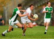 7 July 2018; Paul Cribbin of Kildare in action against Che Cullen of Fermanagh during the GAA Football All-Ireland Senior Championship Round 4 match between Fermanagh and Kildare at Páirc Tailteann in Navan, Co. Meath. Photo by Piaras Ó Mídheach/Sportsfile