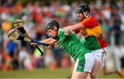 7 July 2018; Peter Casey of Limerick in action against Richard Coady of Carlow during the GAA Hurling All-Ireland Senior Championship Preliminary Quarter-Final match between Carlow and Limerick at Netwatch Cullen Park in Carlow. Photo by Matt Browne/Sportsfile