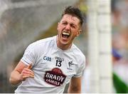 7 July 2018; Neil Flynn of Kildare celebrates scoring his side's second goal during the GAA Football All-Ireland Senior Championship Round 4 match between Fermanagh and Kildare at Páirc Tailteann in Navan, Co. Meath. Photo by Piaras Ó Mídheach/Sportsfile