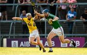 7 July 2018; Tommy Doyle of Westmeath in action against David Dunne of Wexford during the GAA Hurling All-Ireland Senior Championship Preliminary Quarter-Final match between Westmeath and Wexford at TEG Cusack Park in Mullingar, Co. Westmeath. Photo by Diarmuid Greene/Sportsfile