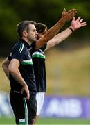 7 July 2018; Fermanagh manager Rory Gallagher, left, and assistant manager Ryan McMenamin during the GAA Football All-Ireland Senior Championship Round 4 match between Fermanagh and Kildare at Páirc Tailteann in Navan, Co. Meath. Photo by Piaras Ó Mídheach/Sportsfile