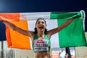 7 July 2018; Sophie O'Sullivan of Ireland celebrates winning silver in the Girls 800m at the European U18 Athletics Championships in Gyor, Hungary. Photo by Giancarlo Columbo/Sportsfile
