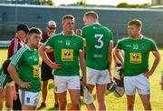 7 July 2018; Westmeath players Plunkett Maxwell, Darragh Clinton, Tommy Doyle, and Brendan Doyle after the GAA Hurling All-Ireland Senior Championship Preliminary Quarter-Final match between Westmeath and Wexford at TEG Cusack Park in Mullingar, Co. Westmeath. Photo by Diarmuid Greene/Sportsfile