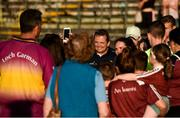 7 July 2018; Wexford manager Davy Fitzgerald poses for photographs with supporters after the GAA Hurling All-Ireland Senior Championship Preliminary Quarter-Final match between Westmeath and Wexford at TEG Cusack Park in Mullingar, Co. Westmeath. Photo by Diarmuid Greene/Sportsfile