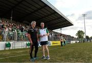 7 July 2018; Carlow manager Colm Bonnar and Limerick manager John Kiely after the GAA Hurling All-Ireland Senior Championship Preliminary Quarter-Final match between Carlow and Limerick at Netwatch Cullen Park in Carlow. Photo by Matt Browne/Sportsfile