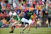 7 July 2018; Brian Tracey of Carlow in action against Limerick during the GAA Hurling All-Ireland Senior Championship Preliminary Quarter-Final match between Carlow and Limerick at Netwatch Cullen Park in Carlow. Photo by Matt Browne/Sportsfile