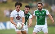 7 July 2018; Chris Healy of Kildare in action against Séamus Quigley, centre, and Paul McCusker of Fermanagh during the GAA Football All-Ireland Senior Championship Round 4 match between Fermanagh and Kildare at Páirc Tailteann in Navan, Co. Meath. Photo by Piaras Ó Mídheach/Sportsfile