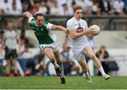 7 July 2018; Daniel Flynn of Kildare in action against Che Cullen of Fermanagh during the GAA Football All-Ireland Senior Championship Round 4 match between Fermanagh and Kildare at Páirc Tailteann in Navan, Co. Meath. Photo by Piaras Ó Mídheach/Sportsfile