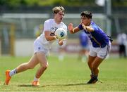 8 July 2018; Liam Broderick of Kildare in action against Eoin Darcy of Wicklow during the Electric Ireland Leinster GAA Minor Football Championship Semi-Final match between Kildare and Wicklow at St Conleth's Park in Newbridge, Co. Kildare. Photo by Piaras Ó Mídheach/Sportsfile