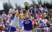8 July 2018; Conor McCarthy of Monaghan in action against Mark Timmons of Laois during the GAA Football All-Ireland Senior Championship Round 4 match between Laois and Monaghan at Páirc Tailteann in Navan, Co Meath. Photo by Ramsey Cardy/Sportsfile