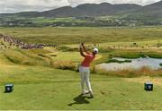 8 July 2018; Erik van Rooyen of South Africa tees off from the 7th tee box during Day Four of the Dubai Duty Free Irish Open Golf Championship at Ballyliffin Golf Club in Ballyliffin, Co. Donegal. Photo by Oliver McVeigh/Sportsfile