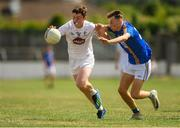 8 July 2018; Alex Beirne of Kildare in action against Jack Fleming Foran of Wicklow during the Electric Ireland Leinster GAA Minor Football Championship Semi-Final match between Kildare and Wicklow at St Conleth's Park in Newbridge, Co. Kildare. Photo by Piaras Ó Mídheach/Sportsfile