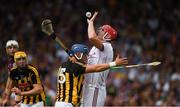 8 July 2018; Galway goalkeeper James Skehill clears under pressure from Kilkenny corner forward Ger Aylward during the Leinster GAA Hurling Senior Championship Final Replay match between Kilkenny and Galway at Semple Stadium in Thurles, Co Tipperary. Photo by Ray McManus/Sportsfile