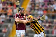 8 July 2018; Richie Leahy of Kilkenny in action against Pádraig Mannion of Galway during the Leinster GAA Hurling Senior Championship Final Replay match between Kilkenny and Galway at Semple Stadium in Thurles, Co Tipperary. Photo by Brendan Moran/Sportsfile