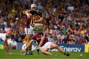 8 July 2018; Ger Aylward of Kilkenny kicks a goal, in the 34th minute, under pressure from Galway goalkeeper James Skehill, left, Adrian Tuohey, right, and Gearóid McInerney during the Leinster GAA Hurling Senior Championship Final Replay match between Kilkenny and Galway at Semple Stadium in Thurles, Co Tipperary. Photo by Ray McManus/Sportsfile