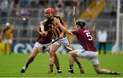 8 July 2018; James Maher of Kilkenny in action against David Burke and Pádraig Mannion of Galway during the Leinster GAA Hurling Senior Championship Final Replay match between Kilkenny and Galway at Semple Stadium in Thurles, Co Tipperary. Photo by Brendan Moran/Sportsfile