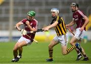 8 July 2018; David Burke of Galway in action against TJ Reid of Kilkenny during the Leinster GAA Hurling Senior Championship Final Replay match between Kilkenny and Galway at Semple Stadium in Thurles, Co Tipperary. Photo by Eóin Noonan/Sportsfile