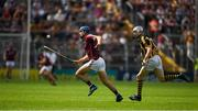 8 July 2018; Johnny Coen of Galway in action against TJ Reid of Kilkenny during the Leinster GAA Hurling Senior Championship Final Replay match between Kilkenny and Galway at Semple Stadium in Thurles, Co Tipperary. Photo by Ray McManus/Sportsfile