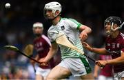 8 July 2018; Bryan Heavey of Limerick in action against Dean Reilly of Galway during the Electric Ireland GAA Hurling All-Ireland Minor Championship Quarter-Final match between Galway and Limerick at Semple Stadium in Thurles, Co Tipperary. Photo by Ray McManus/Sportsfile