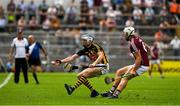 8 July 2018; TJ Reid of Kilkenny in action against Gearóid McInerney of Galway  during the Leinster GAA Hurling Senior Championship Final Replay match between Kilkenny and Galway at Semple Stadium in Thurles, Co Tipperary. Photo by Ray McManus/Sportsfile