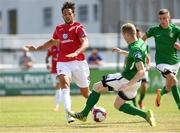 8 July 2018; Seamus Sharkey of Sligo Rovers in action against Kevin Lynch of Bray Wanderers during the SSE Airtricity League Premier Division match between Bray Wanderers and Sligo Rovers at the Carlisle Grounds in Bray, Co Wicklow. Photo by Matt Browne/Sportsfile