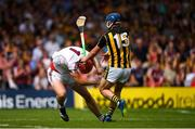8 July 2018; James Skehill of Galway is tackled by Ger Aylward of Kilkenny during the Leinster GAA Hurling Senior Championship Final Replay match between Kilkenny and Galway at Semple Stadium in Thurles, Co Tipperary. Photo by Eóin Noonan/Sportsfile