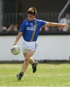 8 July 2018; 8 July 2018; John Keogh of Wicklow scores the last point of the game, from a free in extra-time, to ensure the game ended in a draw during the Electric Ireland Leinster GAA Minor Football Championship Semi-Final match between Kildare and Wicklow at St Conleth's Park in Newbridge, Co. Kildare. Photo by Piaras Ó Mídheach/Sportsfile