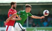 8 July 2018; Jake Ellis of Bray Wanderers in action against Kyle McFadden of Sligo Rovers during the SSE Airtricity League Premier Division match between Bray Wanderers and Sligo Rovers at the Carlisle Grounds in Bray, Co Wicklow. Photo by Matt Browne/Sportsfile
