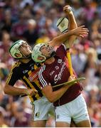 8 July 2018; Jason Flynn of Galway in action against Paddy Deegan of Kilkenny during the Leinster GAA Hurling Senior Championship Final Replay match between Kilkenny and Galway at Semple Stadium in Thurles, Co Tipperary. Photo by Brendan Moran/Sportsfile