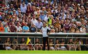 8 July 2018; Kilkenny manager Brian Cody during the final moments of the Leinster GAA Hurling Senior Championship Final Replay match between Kilkenny and Galway at Semple Stadium in Thurles, Co Tipperary. Photo by Brendan Moran/Sportsfile